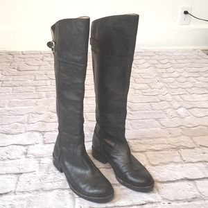 Coach Black Leather Tall Boots size 7B